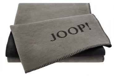 Joop! Wohndecke Uni-Doubleface Taupe-Anthrazit